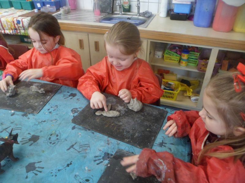 class 1 - clay dinosaurs